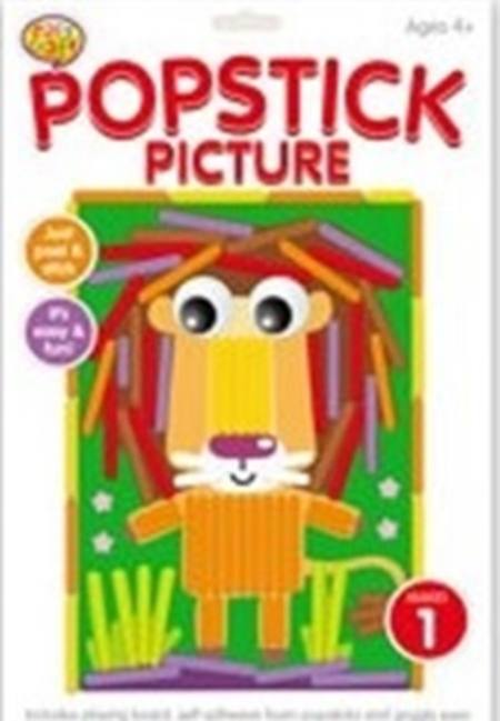 Popstick Picture Craft Kit - 6 Assorted Styles