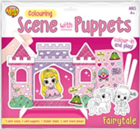 Colour In Scene Kit with Puppets - 4 Assorted Styles