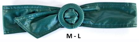 WRAP BUCKLE  BELT - TEAL M-L