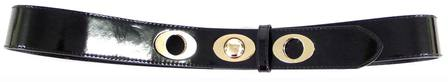 SKINNY/GOLD  BELT - BLACK M-L