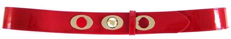 SKINNY/GOLD  BELT - RED S-M