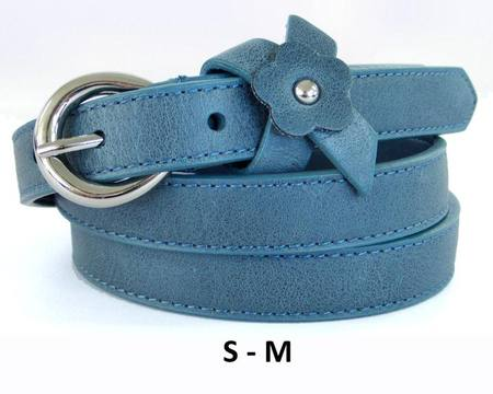 FLOWER  BELT - BLUE GREY S-M
