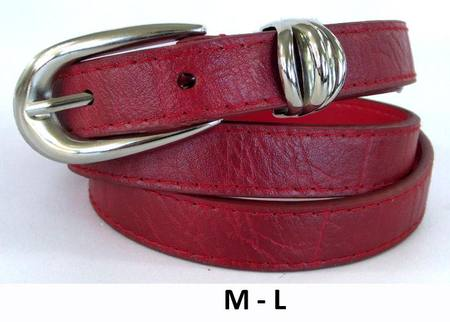 SLIM TRIPLE KEEPER  BELT - RED M-L