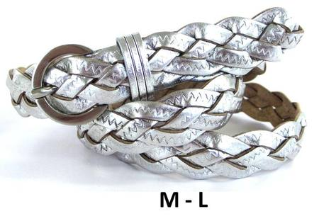 SILVER PLAITED  BELT - M-L
