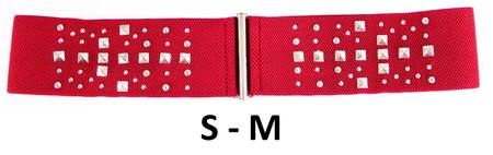 STUDS ELASTIC  BELT - RED S-M