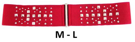 STUDS ELASTIC  BELT - RED M-L