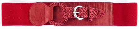 ELASTIC/WOVEN  BELT - RED S-M