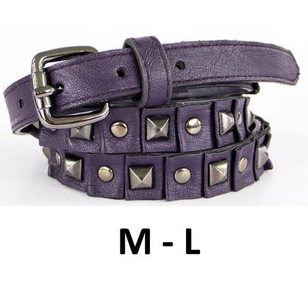 SKINNY WITH STUDS  BELT - PURPLE - M-L