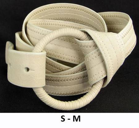 RING/WRAP  BELT - BEIGE S-M