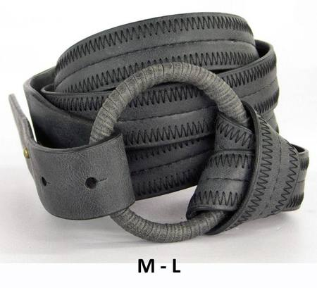 RING/WRAP  BELT - CHARCOAL M-L