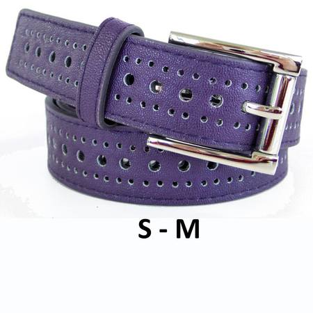 SLIM/HOLES  BELT - PURPLE S-M
