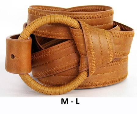 RING/WRAP  BELT - TAN M-L