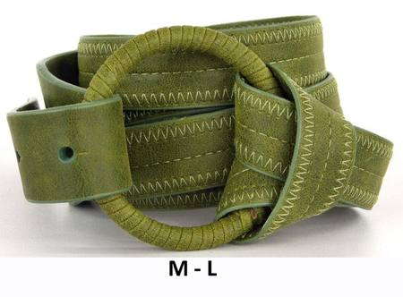 RING/WRAP  BELT - OLIVE M-L