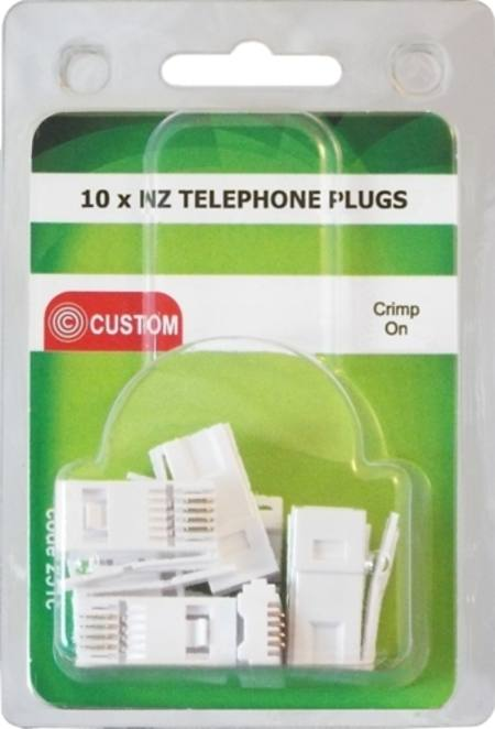 CUSTOM 10 x NZ TELEPHONE PLUGS