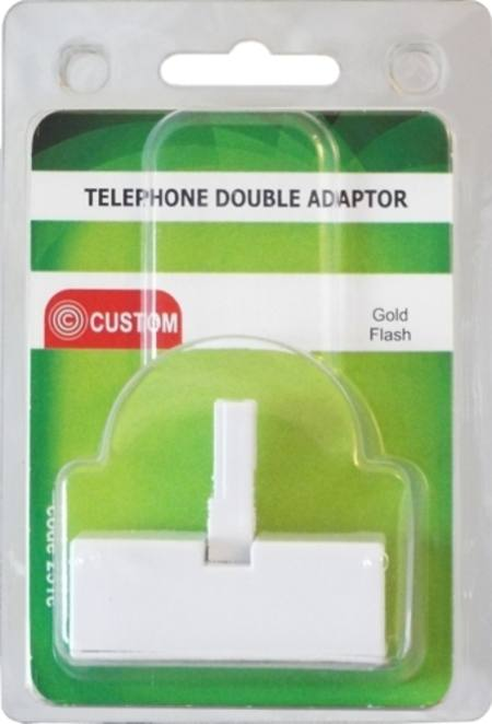 CUSTOM TELEPHONE DOUBLE ADAPTOR