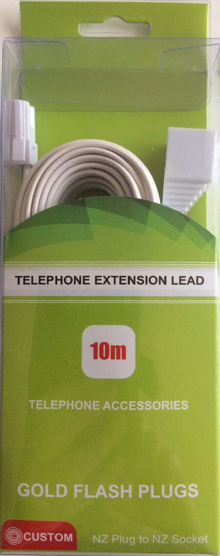 CUSTOM 10 METRE TELEPHONE EXTENSION LEAD