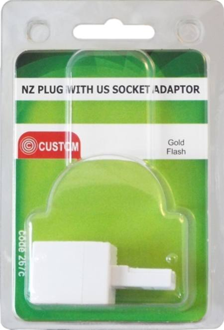 CUSTOM NZ PLUG WITH US SOCKET ADAPTOR