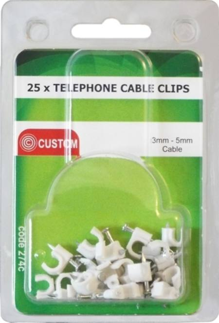 CUSTOM 25 TELEPHONE CABLE CLIPS