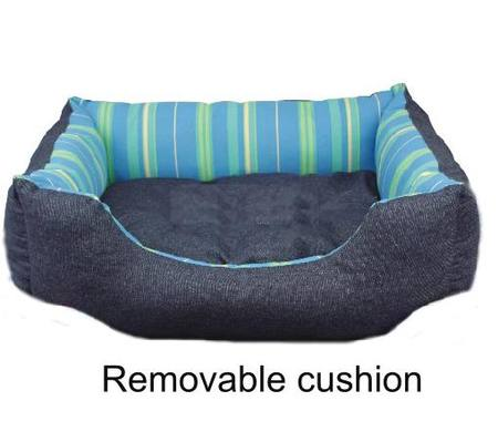 PET BED RAINBOW BLUE  - 75 CM