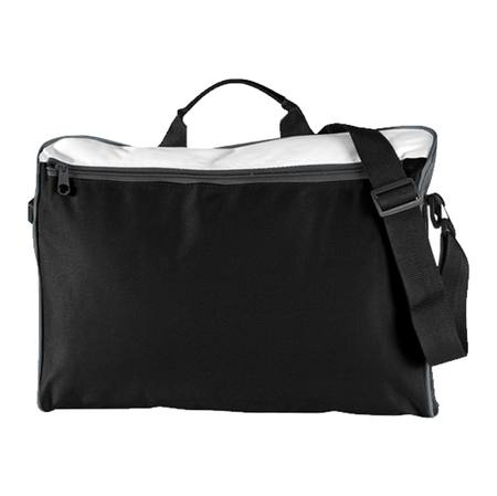 Spectrum Document Folio Satchel Black/White