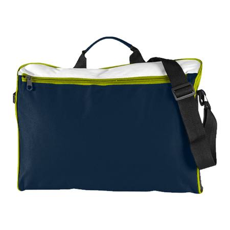 Spectrum Document Folio Satchel Navy/White/Lime