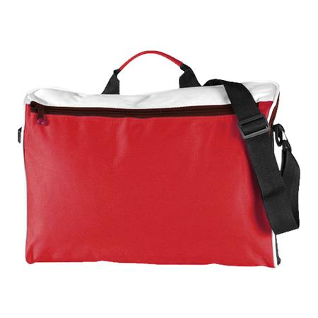 Spectrum Document Folio Satchel Red/White