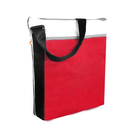 Spectrum Zippered Tote Red/White