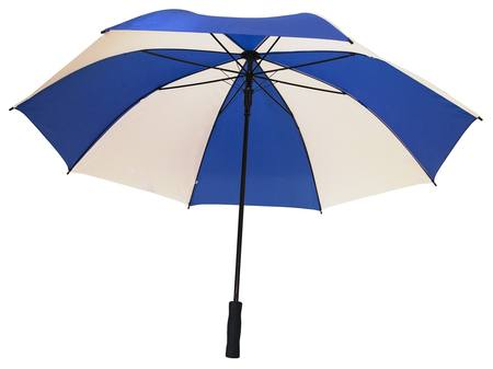 WHITE/BLUE EXTRA LARGE UMBRELLA