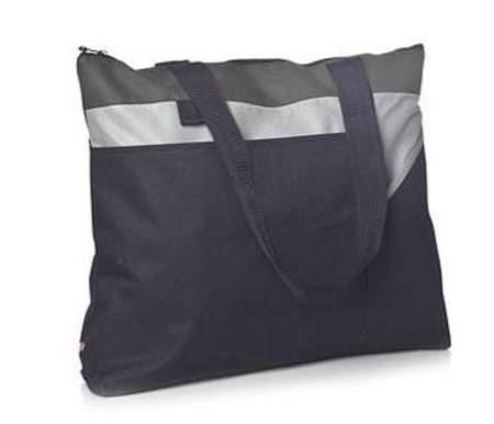 GFC Zippered Tote Black/Grey
