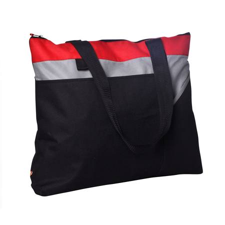GFC Zippered Tote Red/Grey