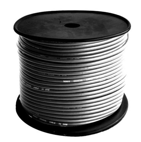 100 METRE ROLL OF  BLACK RG6 COAX CABLE - 75 Ohm