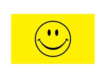 SMILEY FACE FLAG