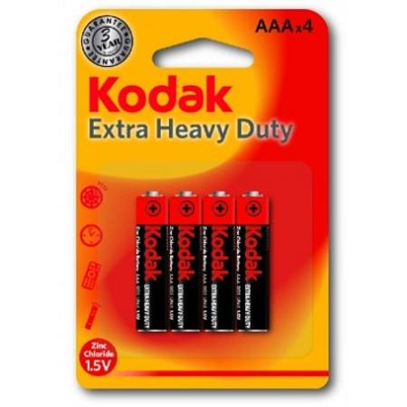 AAA EXTRA HEAVY DUTY KODAK BATTERY CARD OF 4