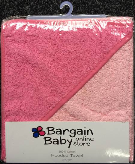 BABY HOODED TOWELS - PINK