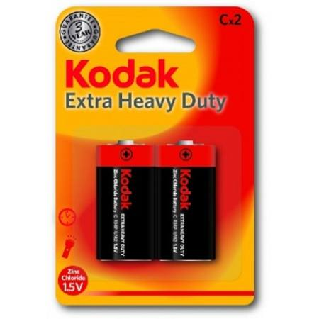 C EXTRA HEAVY DUTY KODAK BATTERY CARD OF 2