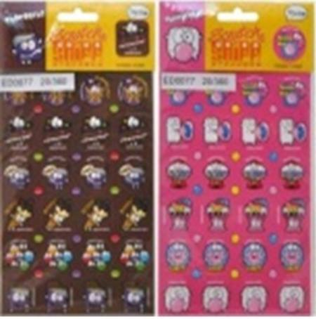 Scratch N Sniff Stickers - 12 Assorted Designs