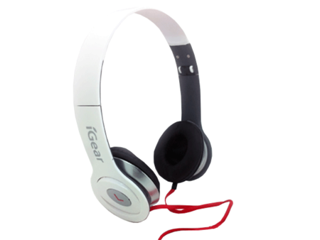 MP3/4 Headphones with iGear logo - White