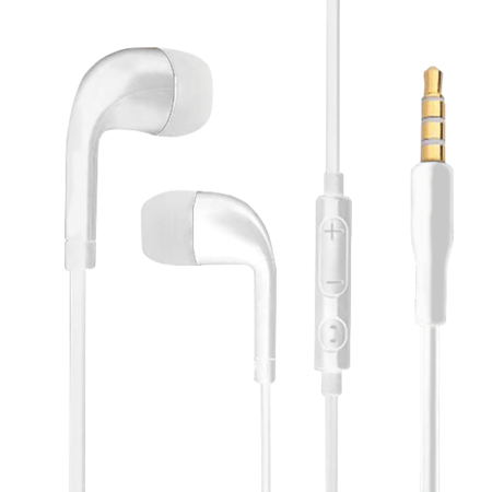 Earphone with Volume Control - White