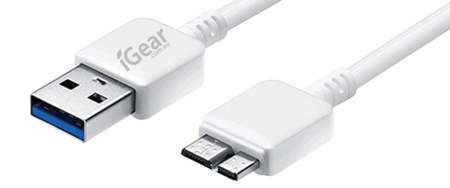 USB TO SAMSUNG NOTE CABLE - 1M - WHITE