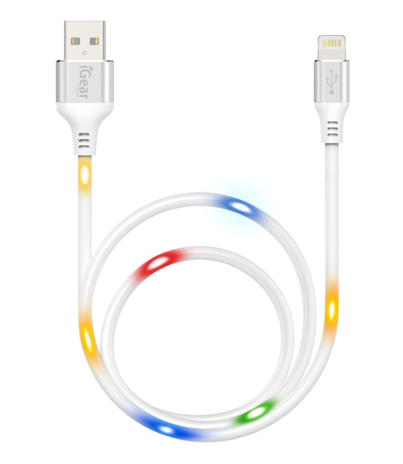 USB TO iPhone 5/6/7/8/X/11 CABLE - SOUND ACTIVATED ILLUMINATE