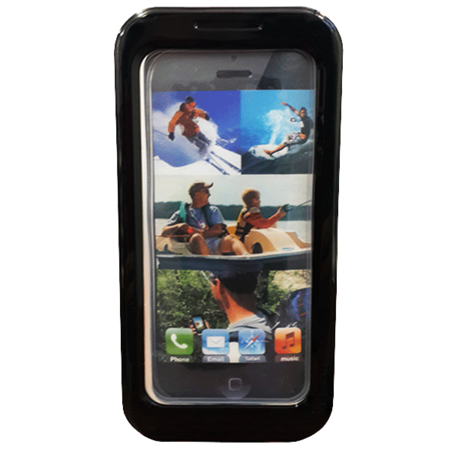 Phone Case - iPhone 5 - PC/Silicon - Waterproof - Black