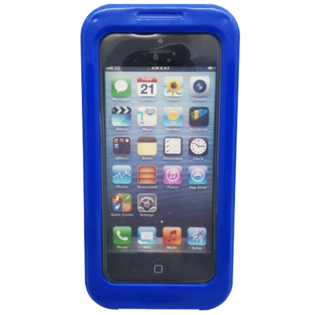 Phone Case - iPhone 5 - PC/Silicon - Waterproof - Blue