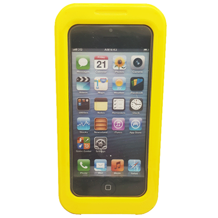 Phone Case - iPhone 5 - PC/Silicon - Waterproof - Yellow