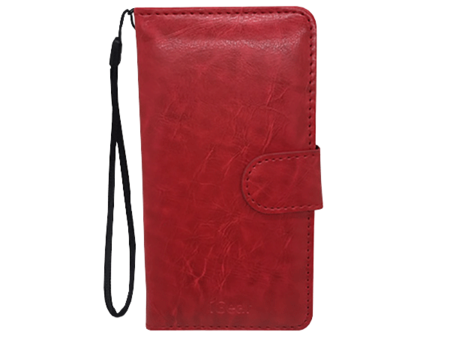 Phone Case - iPhone 6 Plus - Leather - Folio - Red