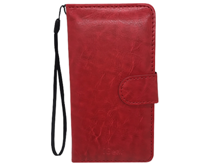 Phone Case - iPhone 5 - Leather - Folio - Red