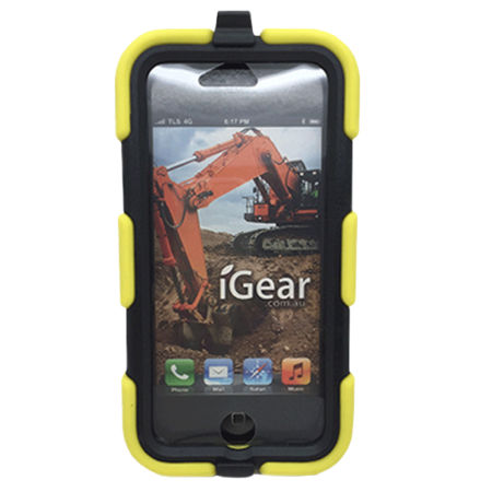 iPhone 6 - PC/Silicon - Heavy Duty - Work Case with Clip - Yellow