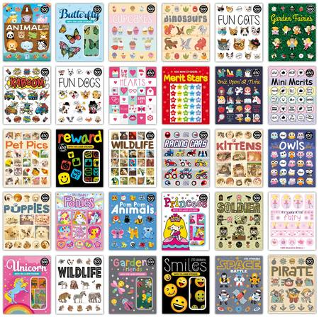 BOOK OF KIDS STICKERS - PRICE IS FOR EACH BOOK